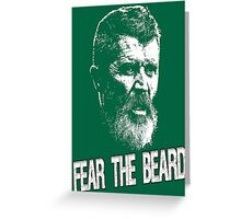 Roy Keane: Fear The Beard Greeting Card