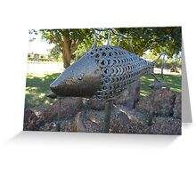Fish Sculpture. Hughenden. Queensland. Australia Greeting Card