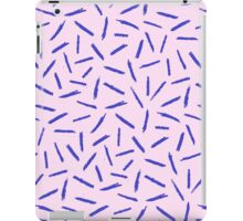 Crayon Scribble Pattern Pink Blue iPad Case/Skin