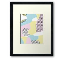 Candy Pink Blue Blobs & Dots Pattern Framed Print