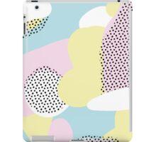 Candy Pink Blue Blobs & Dots Pattern iPad Case/Skin