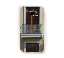 Sophisticated Wrought Iron Shadows - the Beautiful Colonial Architecture of Old San Juan Samsung Galaxy Case/Skin