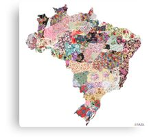 Brazil map Canvas Print