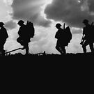Soldier Silhouettes - Battle of Broodseinde by warishellstore