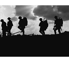 Soldier Silhouettes - Battle of Broodseinde Photographic Print