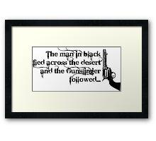 Dark Tower- Gunslinger Framed Print