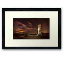 Defence tower against Arabs Framed Print