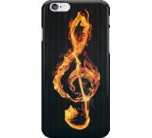 Burning violin key iPhone Case/Skin
