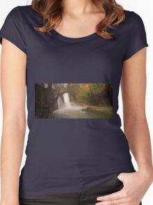 Hermon Stream Nature reserve (Banias) Women's Fitted Scoop T-Shirt