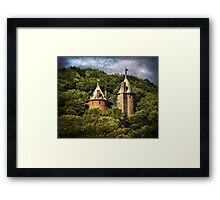Castell Coch Rising Above The Forest Framed Print