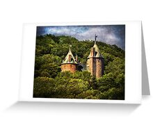 Castell Coch Rising Above The Forest Greeting Card