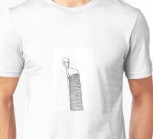 Jeune homme appuyé sur un mur Unisex T-Shirt
