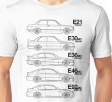 3 Series T-Shirt Why have 1 BMW when you can have 5? Unisex T-Shirt