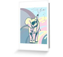 elephant & bubbles Greeting Card