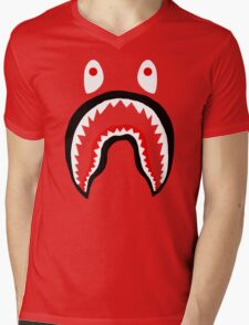 APE SHARK Mens V-Neck T-Shirt