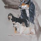 Saluki/Ghost by BarbBarcikKeith