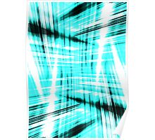 Black and blue streaks Poster