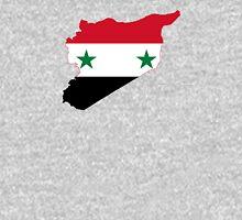 Flag Map of Syria  Unisex T-Shirt