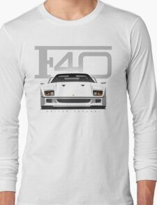 Ferrari F40 White Long Sleeve T-Shirt