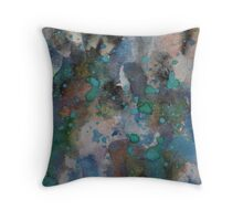 Raw teal Throw Pillow