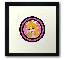 Glamour girl princess Framed Print