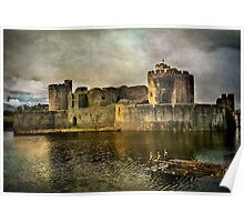 Caerphilly's Stronghold in South Wales Poster