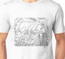 Badger Black on White Unisex T-Shirt