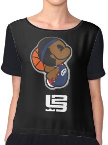 Lebron James Carttoon Chiffon Top