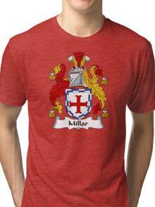 Millar Coat of Arms / Millar Family Crest Tri-blend T-Shirt