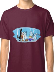 calvin and hobbes with snowman Classic T-Shirt