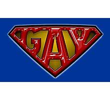 Superman gay logo theme Photographic Print