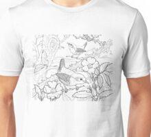 Wren Black on White Unisex T-Shirt