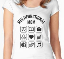 Multifunctional Mom (9 Icons) Women's Fitted Scoop T-Shirt