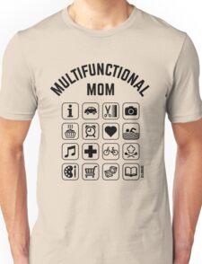 Multifunctional Mom (16 Icons) Unisex T-Shirt