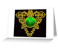 ST. PATRICK'S CELTIC HEART WITH GREEN SHAMROCK Greeting Card