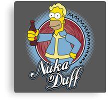 Mmmm Nuka Duff Canvas Print
