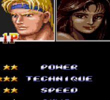 Streets of Rage 2 – Select Axel Sticker