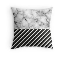 Stripe Marble  Throw Pillow