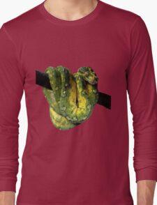 Green Tree Python Reptile Photography  Long Sleeve T-Shirt