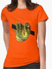 Green Tree Python Reptile Photography  Womens Fitted T-Shirt