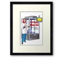 occupy the lab Framed Print