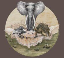 Elephant turtle condor tea time One Piece - Short Sleeve