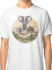 Elephant turtle condor tea time Classic T-Shirt
