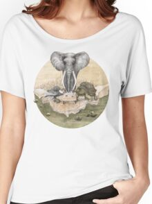 Elephant turtle condor tea time Women's Relaxed Fit T-Shirt