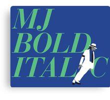 MJ Bold Italic Canvas Print