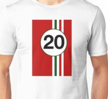 Italian motor racing stripes Unisex T-Shirt