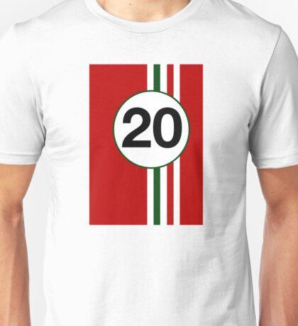Italian motor racing stripes Unisex T-Shirt