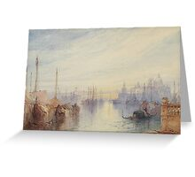 William Callow, R.W.S. (Greenwich  Great Missenden)   The Dogana, Venice, Sunrise Greeting Card