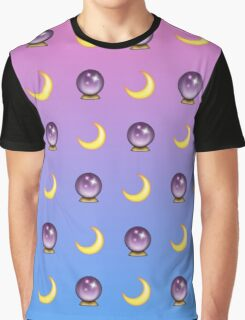 Crystal Ball and Moon Graphic T-Shirt