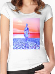 Ocean Sunrise Women's Fitted Scoop T-Shirt